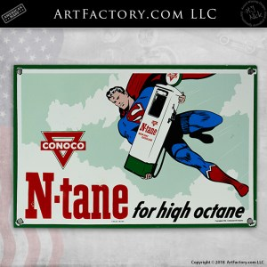 Conoco Gasoline Superman Sign