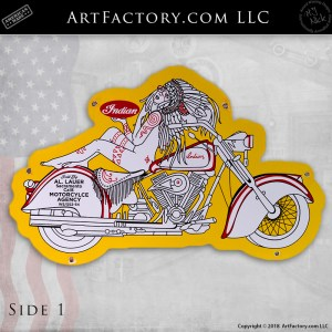 Indian Motorcyle Vintage Sign