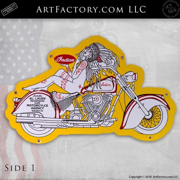 Indian Motorcyle Vintage Sign