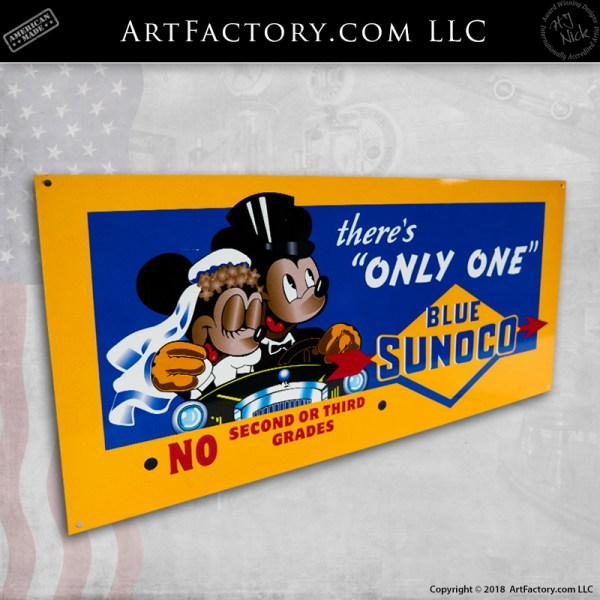 mickey mouse disney vintage sign