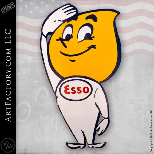Vintage Esso Boy Sign
