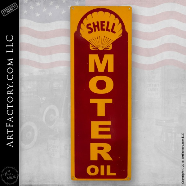 vintage Shell Motor Oil sign