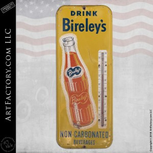 Drink Bireleys Soda Vintage Thermometer
