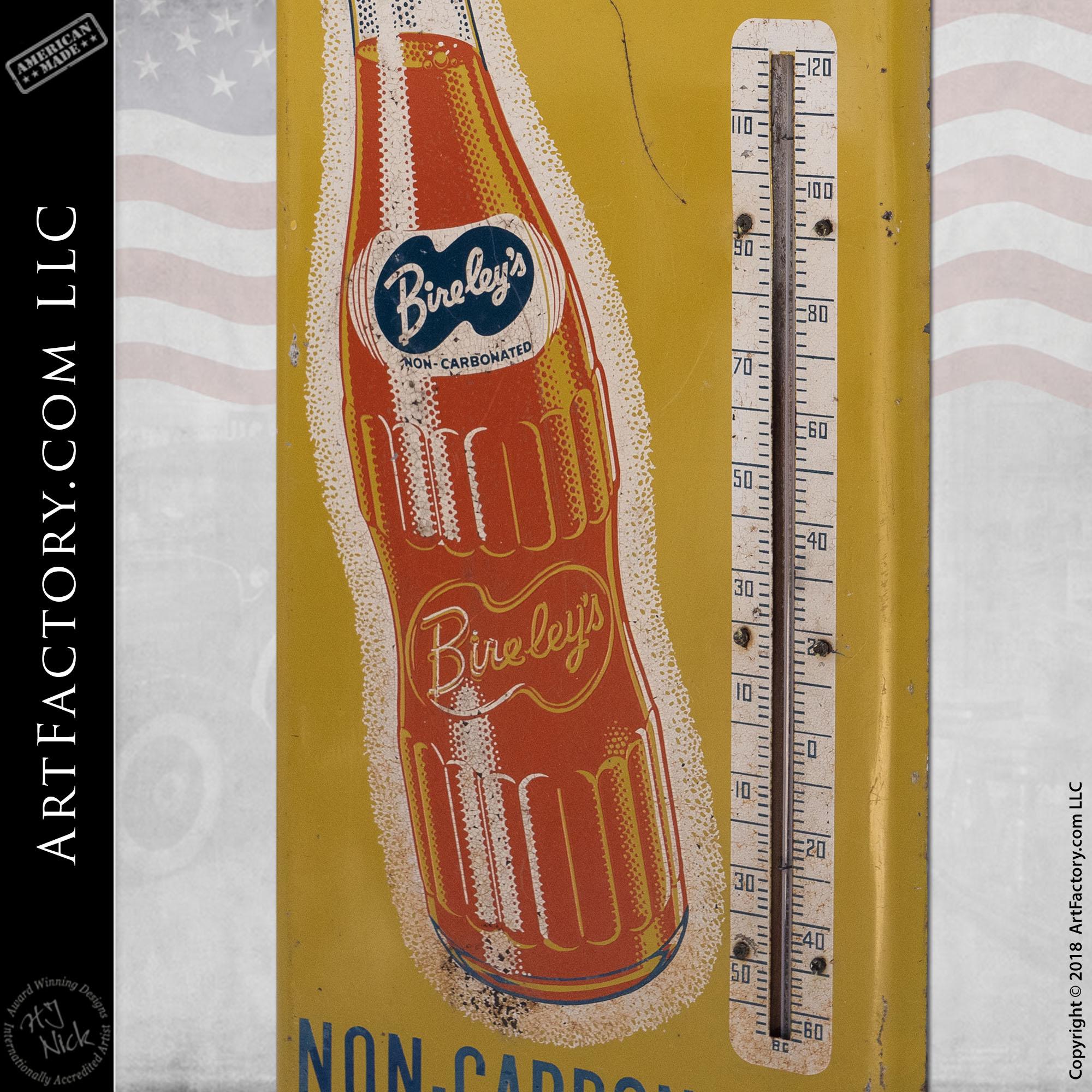 Drink Bireleys Soda Vintage Thermometer