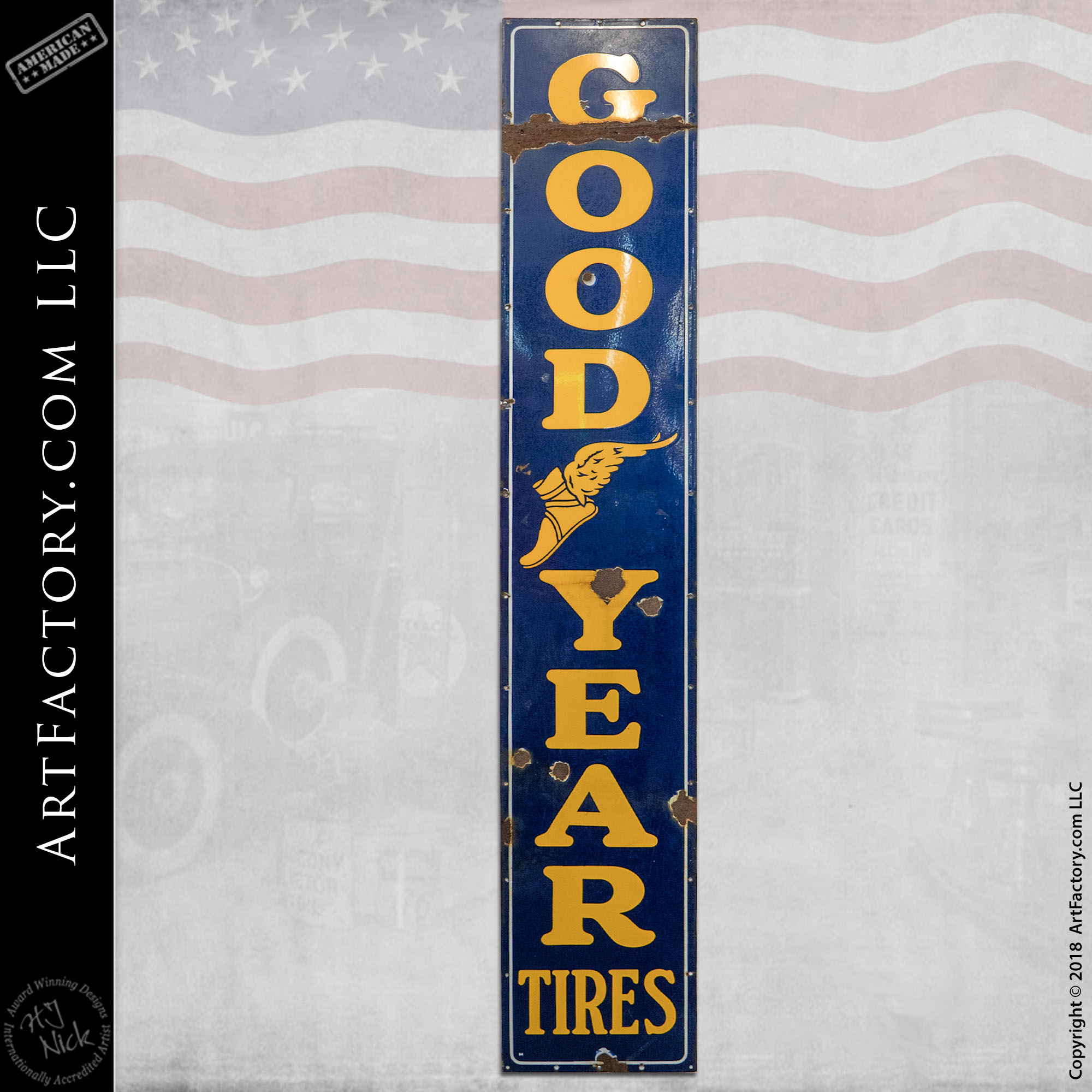 Vintage Large Goodyear Tires Sign
