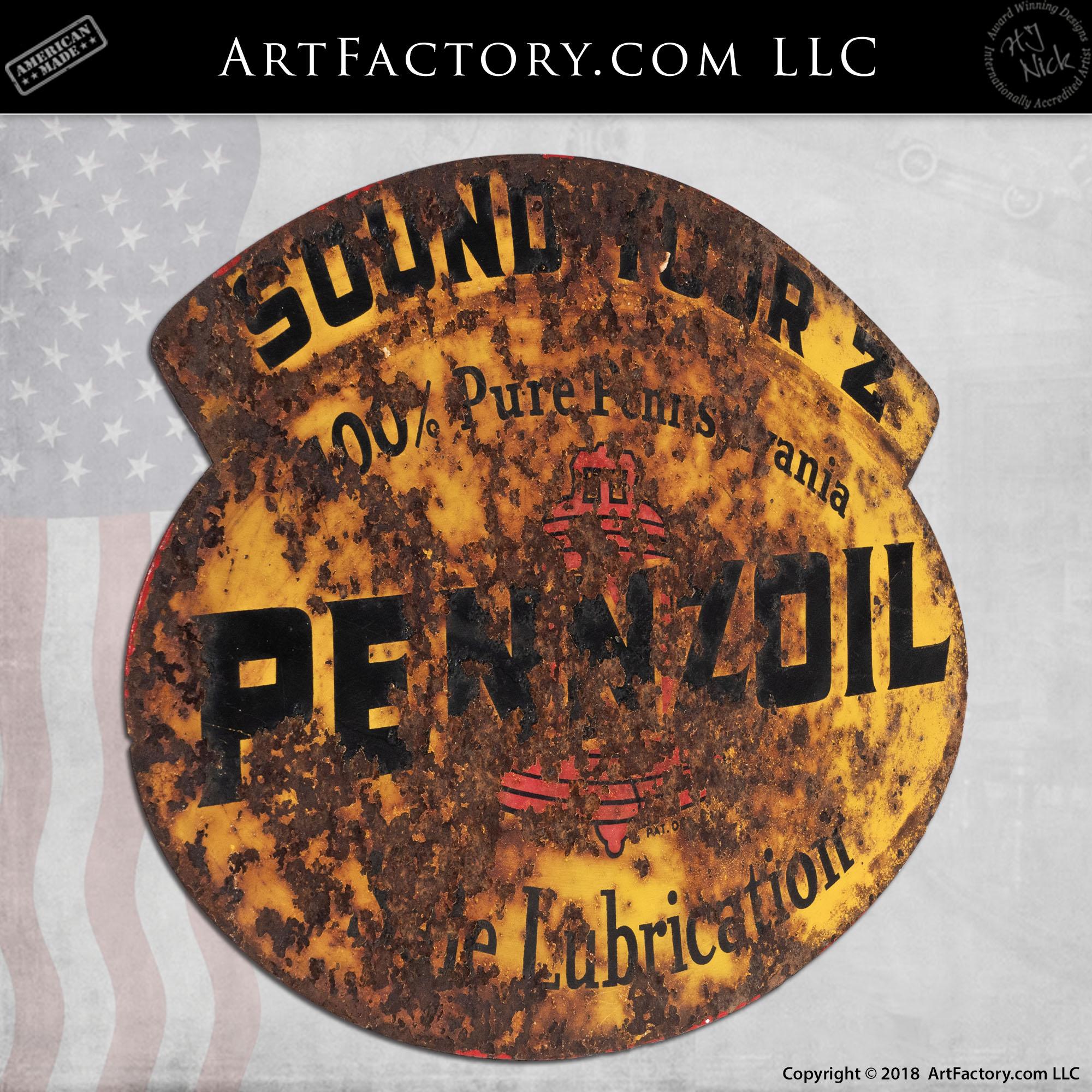 Vintage Pennzoil Lubricant Sign