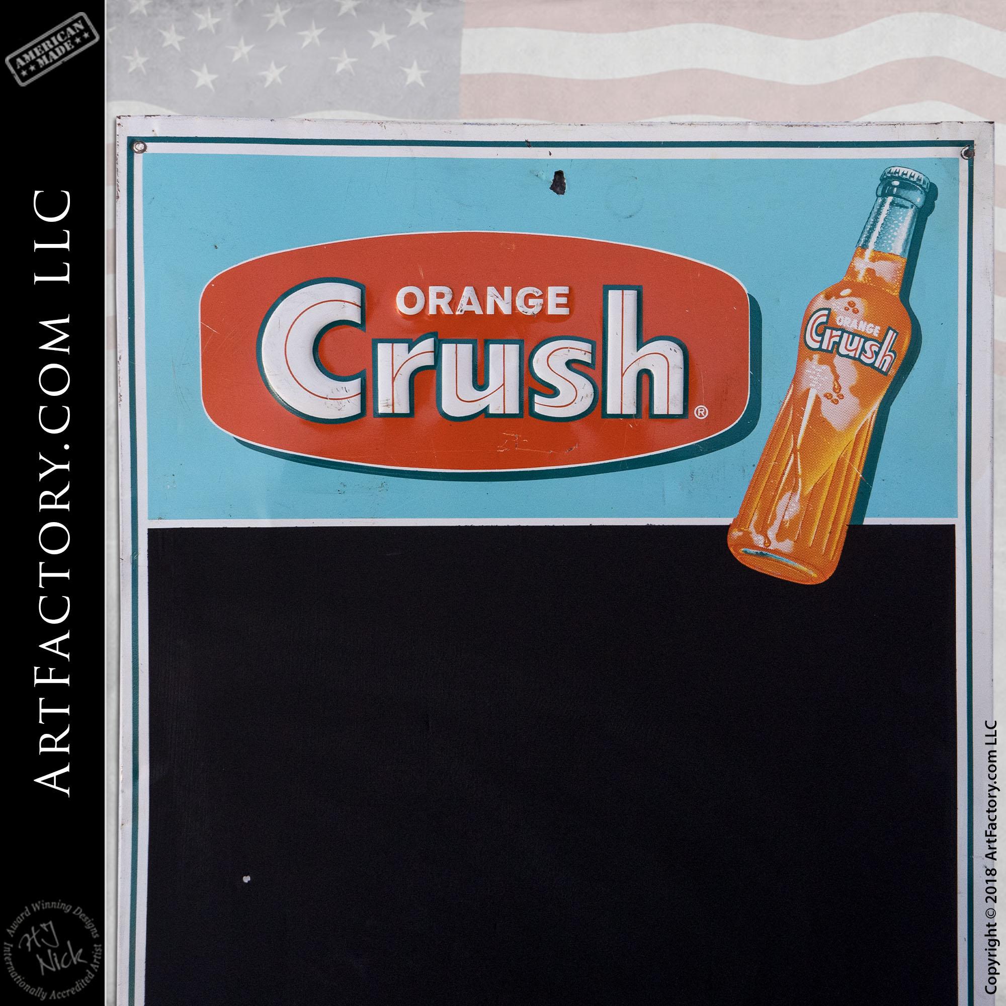 Vintage Orange Crush Soda Chalkboard Sign
