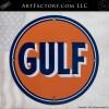 Vintage Gulf Oil Round Sign