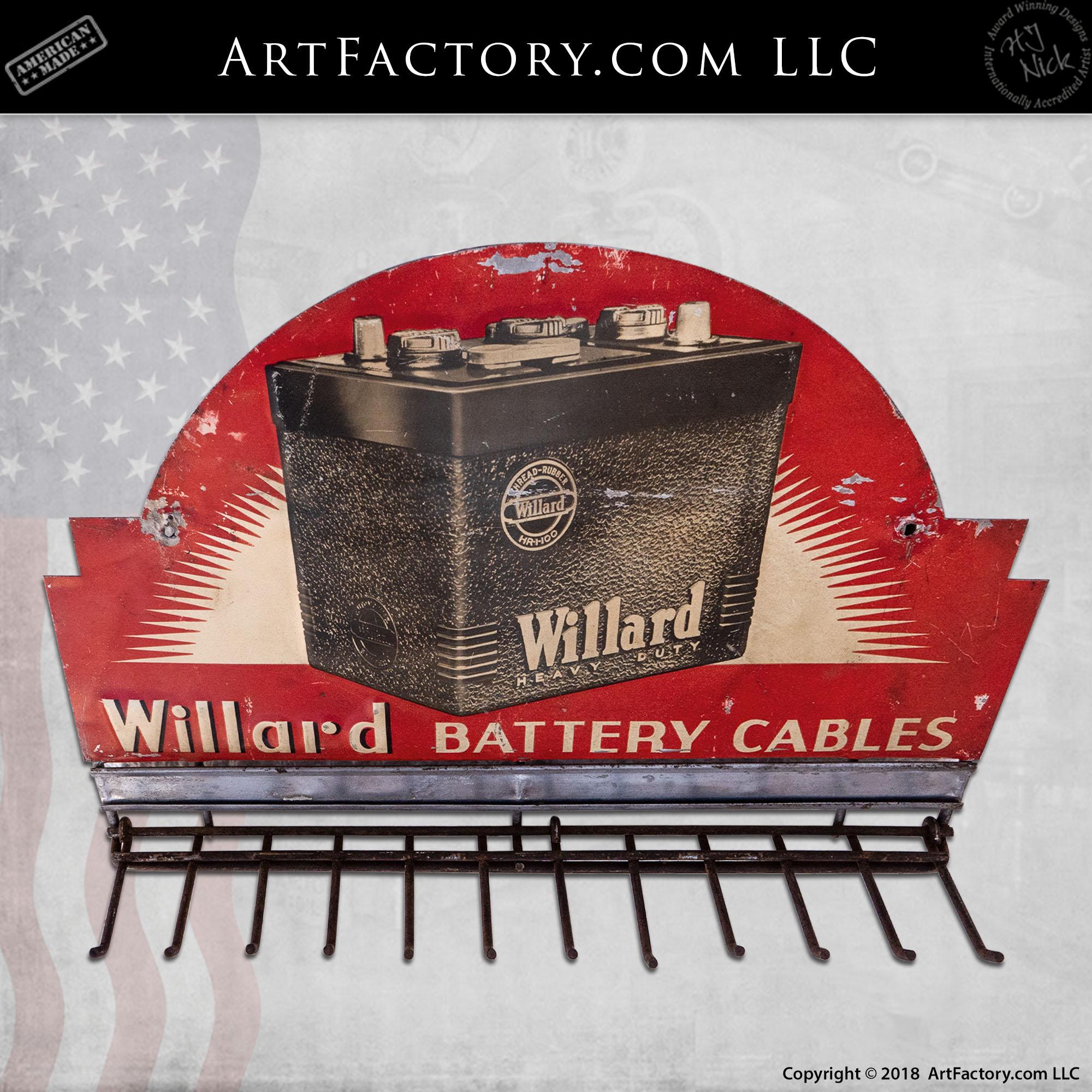Vintage Willard Car Battery Sign