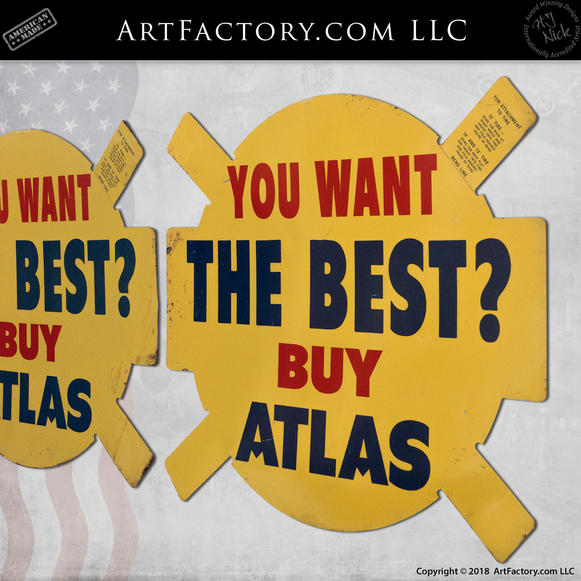 Vintage-Yellow-Atlas-Tires-Sign