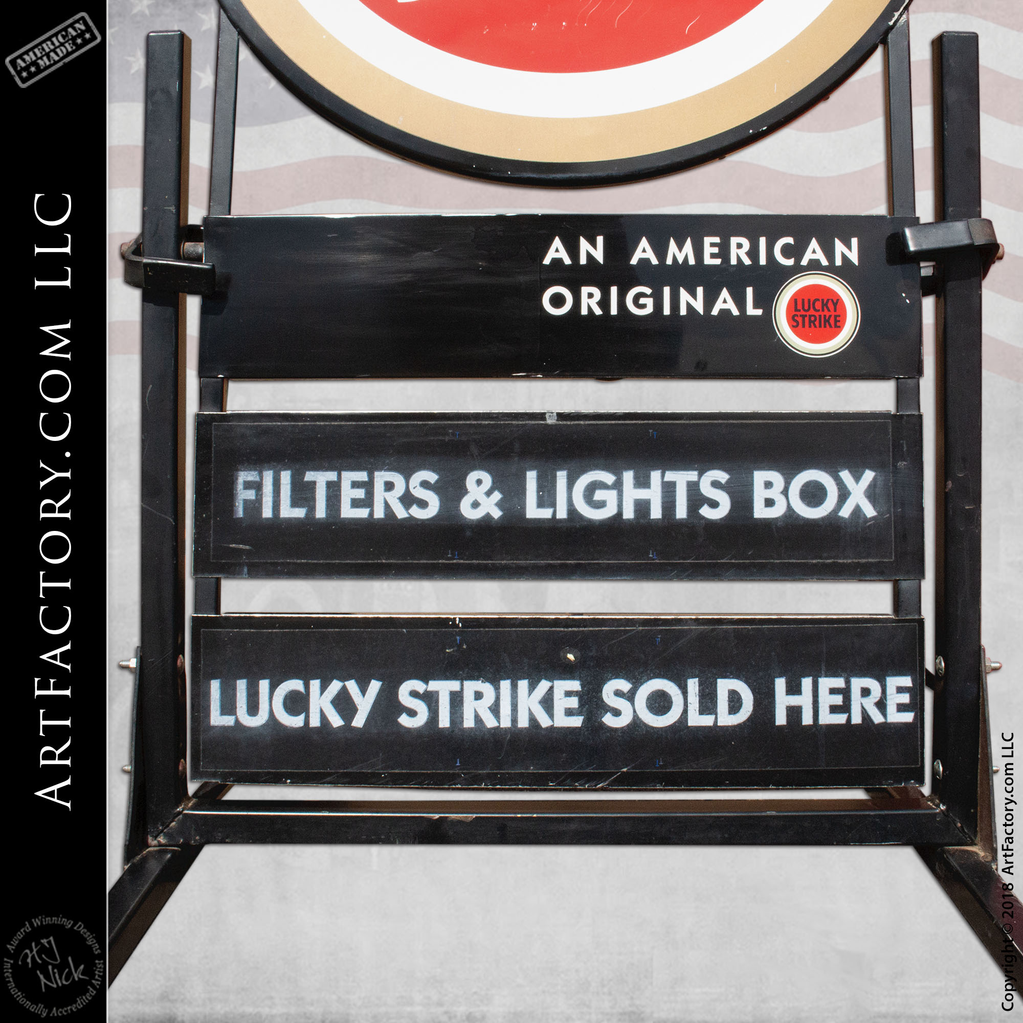 collectible Lucky Strike Sign