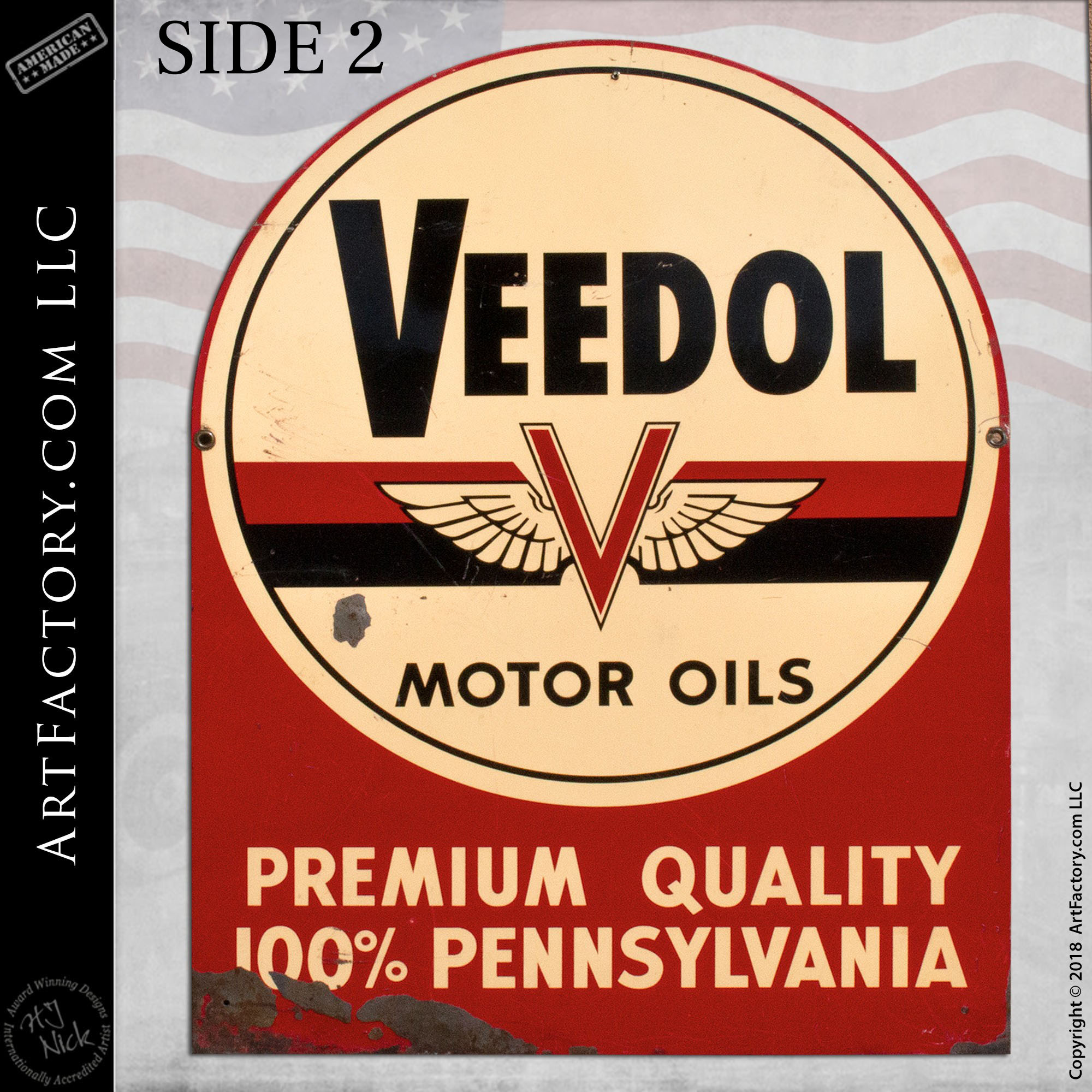 Veedol Motor Oils sign side 2