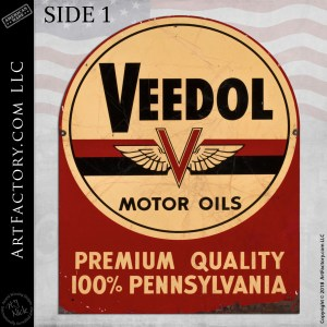 Veedol Motor Oils sign side 1