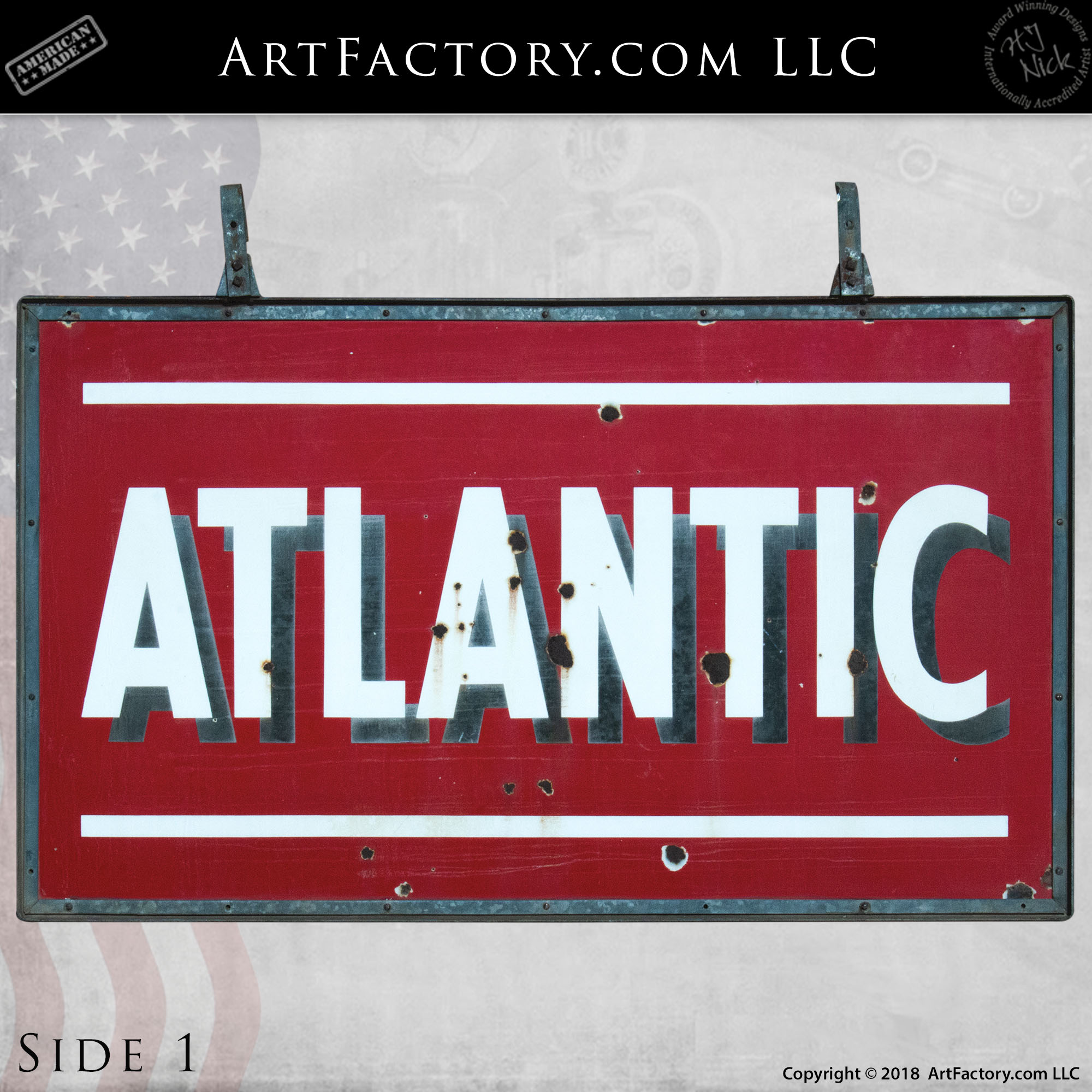 Double Sided Atlantic Sign