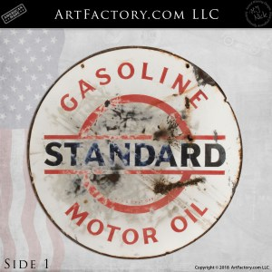Standard Gasoline Motor Oil Sign