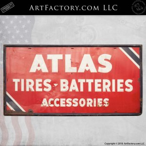 Atlas Tires Batteries Accessories Automotive Sign