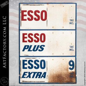 Esso Gas Tax Sign