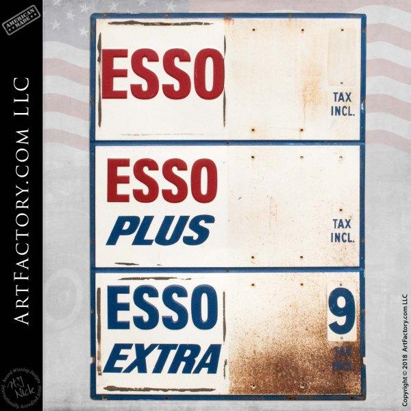 Esso Gas Tax Sign