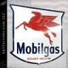 Large Vintage Mobilgas Pegasus Badge Sign