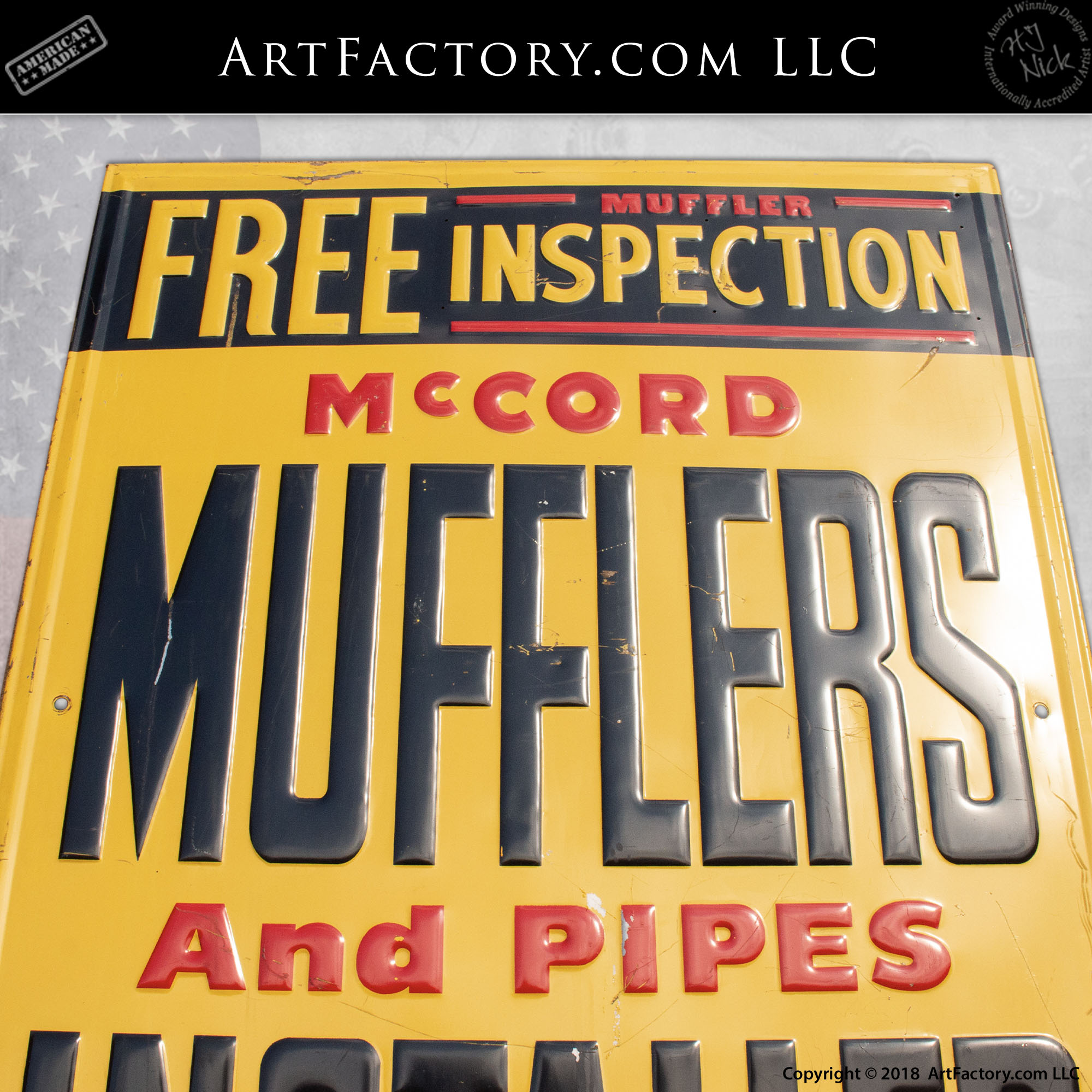 McCord Muffler and Pipes Inspection Sign