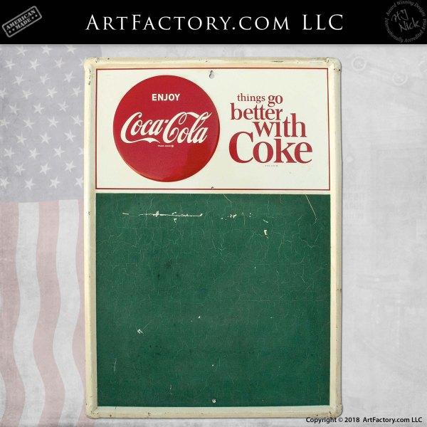 Better with Coke Chalkboard Vintage Sign