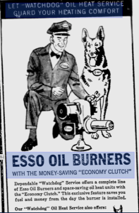 Esso Oil Burners advertisement