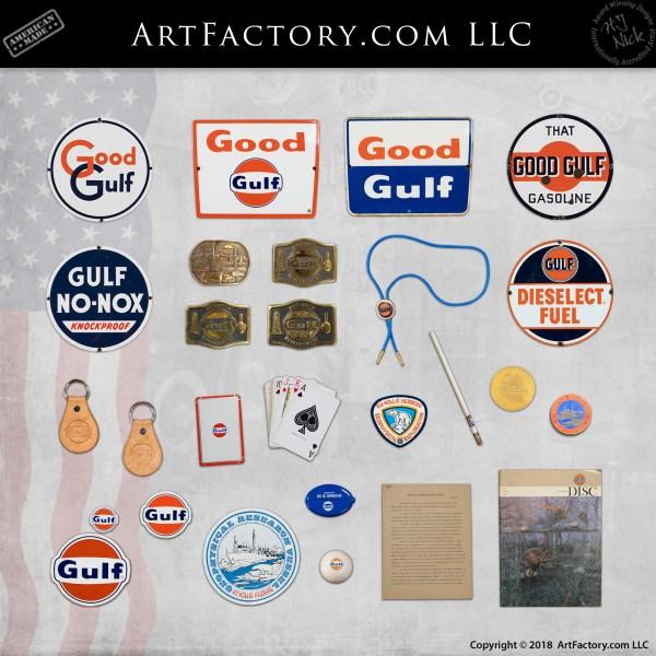 vintage Gulf petroliana collectibles
