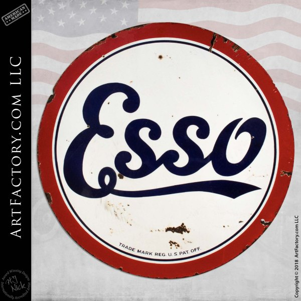 Vintage Standard-Esso Double Sided Sign