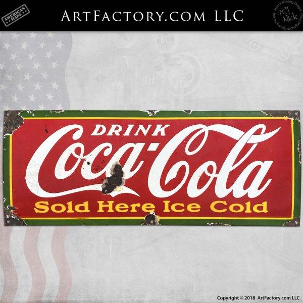 Vintage Coca-Cola Served Here Soda Sign