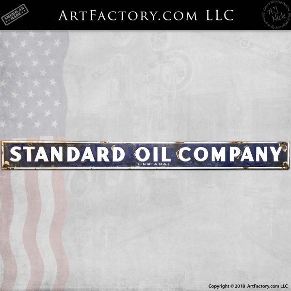 Standard Oil Company Indiana Vintage Sign