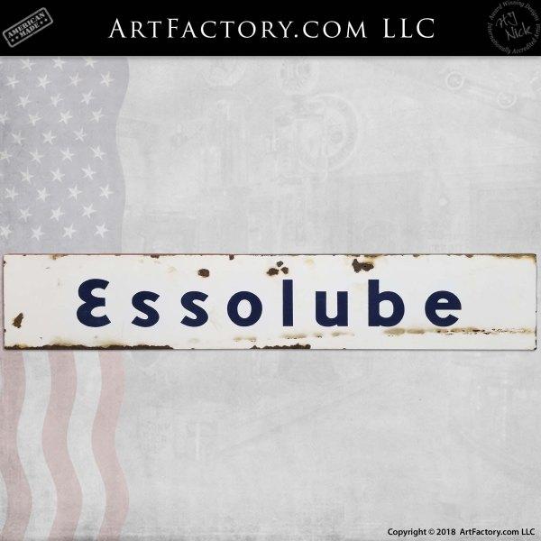 Vintage Essolube Porcelain Sign
