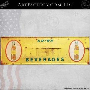 Vintage Nehi Beverages Soda Sign