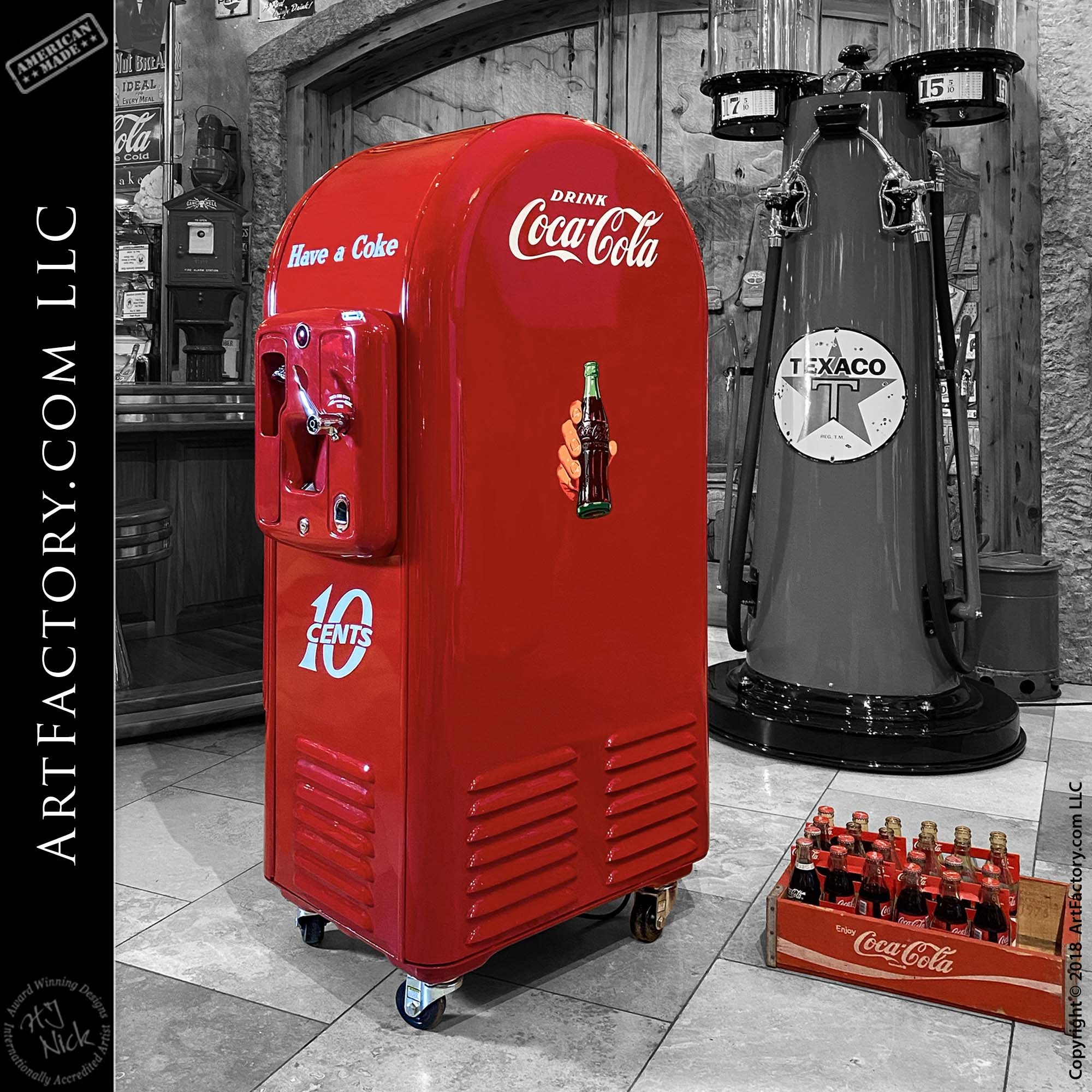 Vintage Jacobs Coca-Cola Vending Machine - Vendo 26