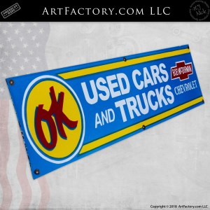 Vintage OK Used Car & Truck Chevrolet Sign