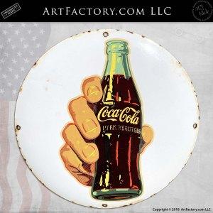 Coke Bottle Round Sign