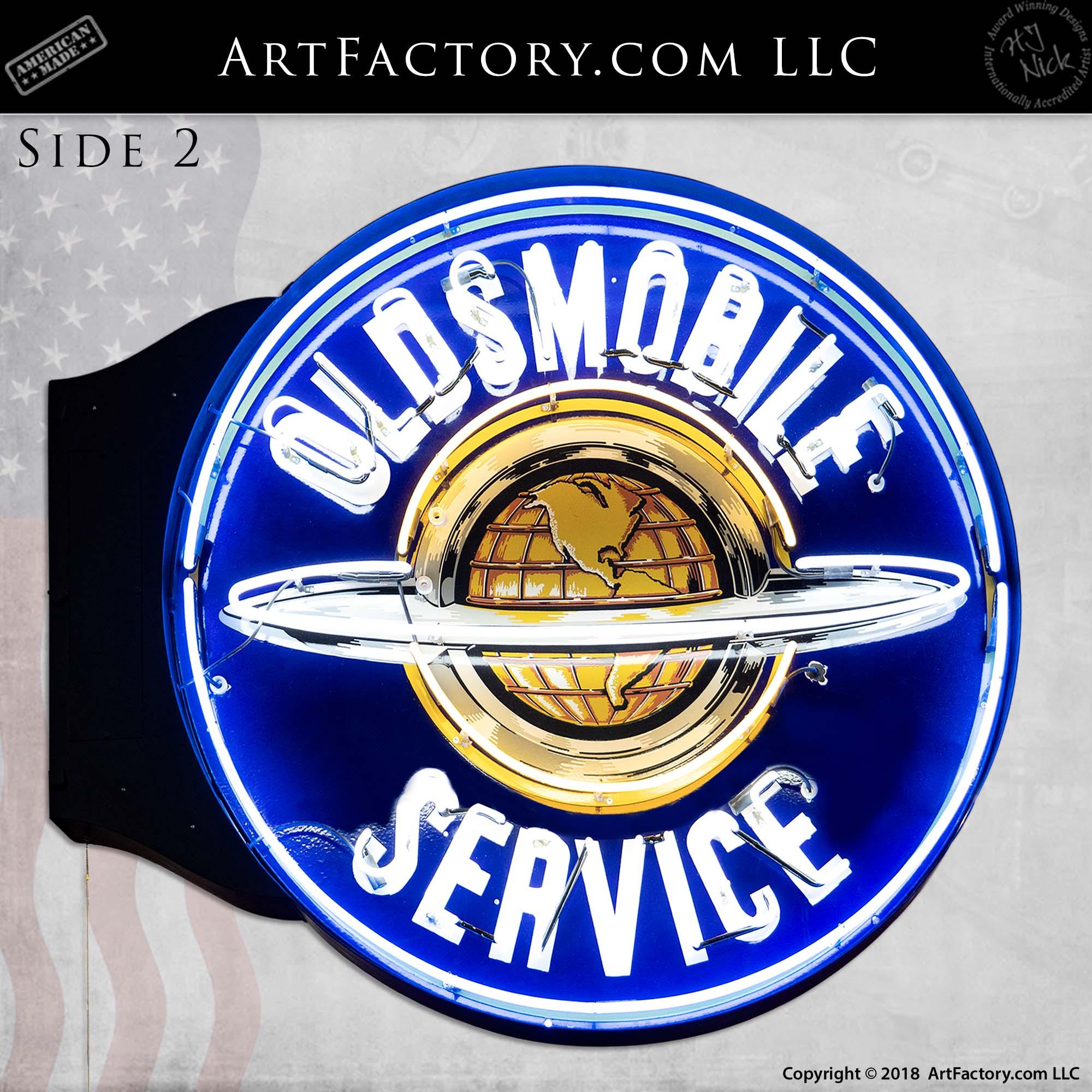 Vintage-Oldsmobile-Service-Neon-Globe-Sign-4