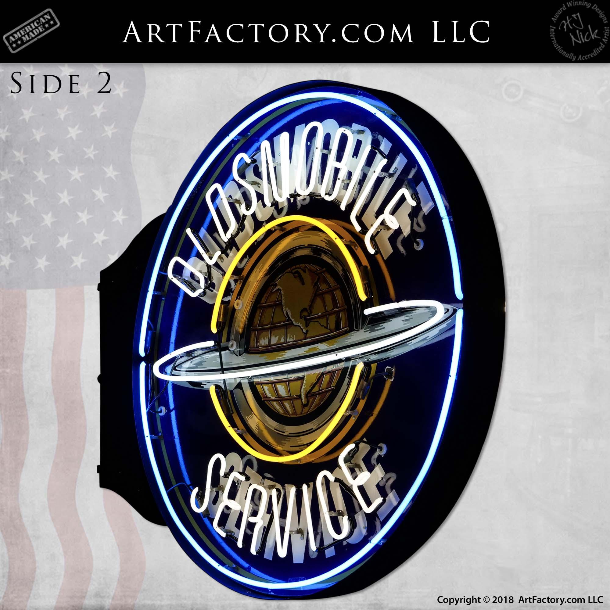 Vintage-Oldsmobile-Service-Neon-Globe-Sign-5