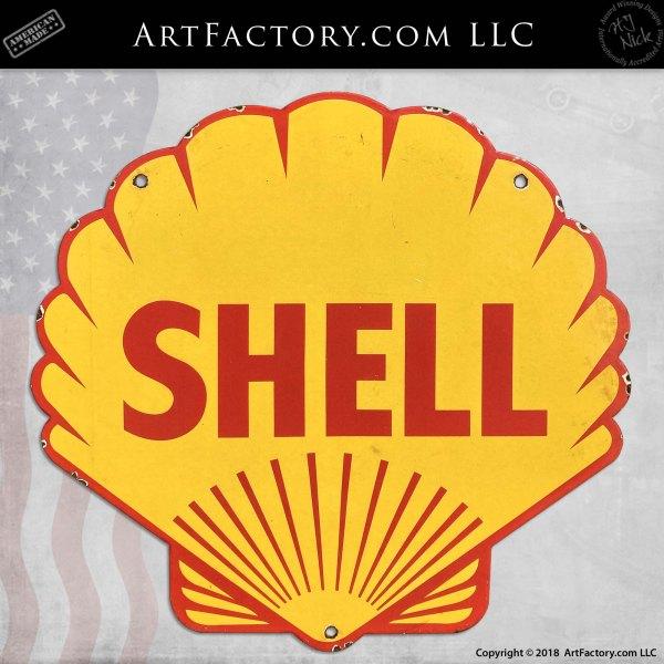 Vintage Shell Gasoline Sign