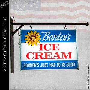 Borden's Elsie The Cow Ice Cream Vintage Lighted Sign - BICS814