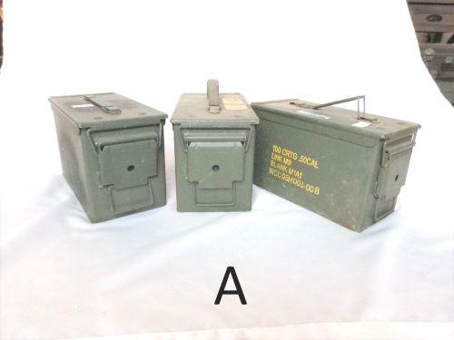 3 ammo boxes 7x6x12e