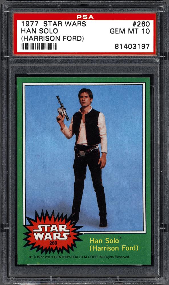 Harrison Ford Han Solo 1977 Star Wars Trading Card PSA 10