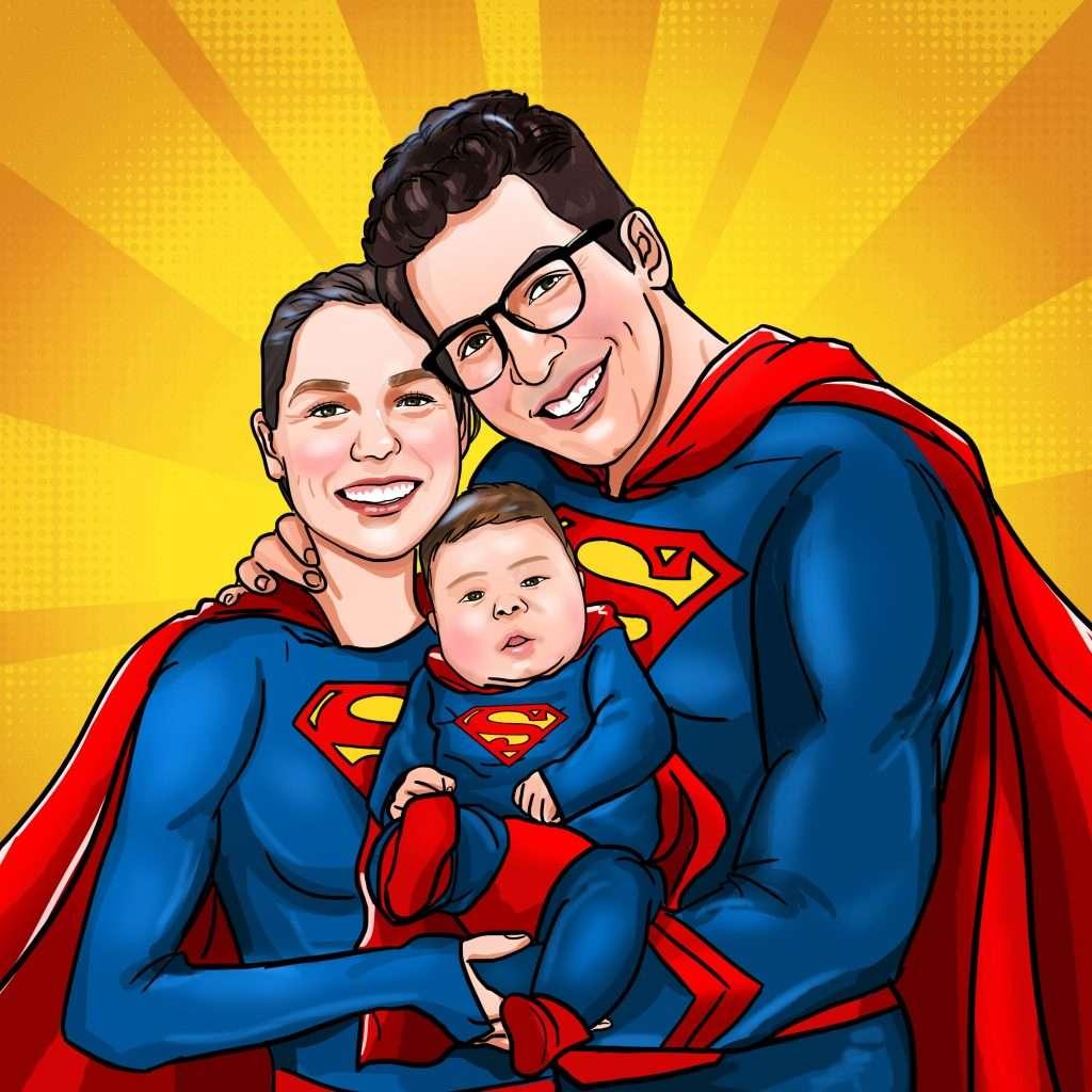 Superman Family Portrait