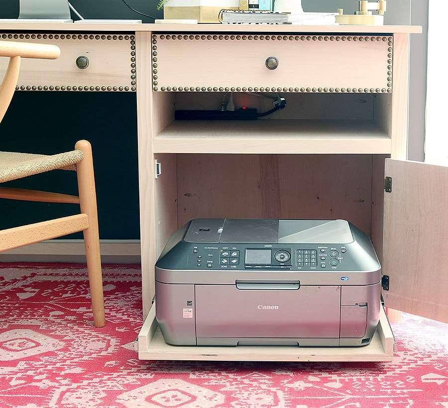 Hidden Printer Storage