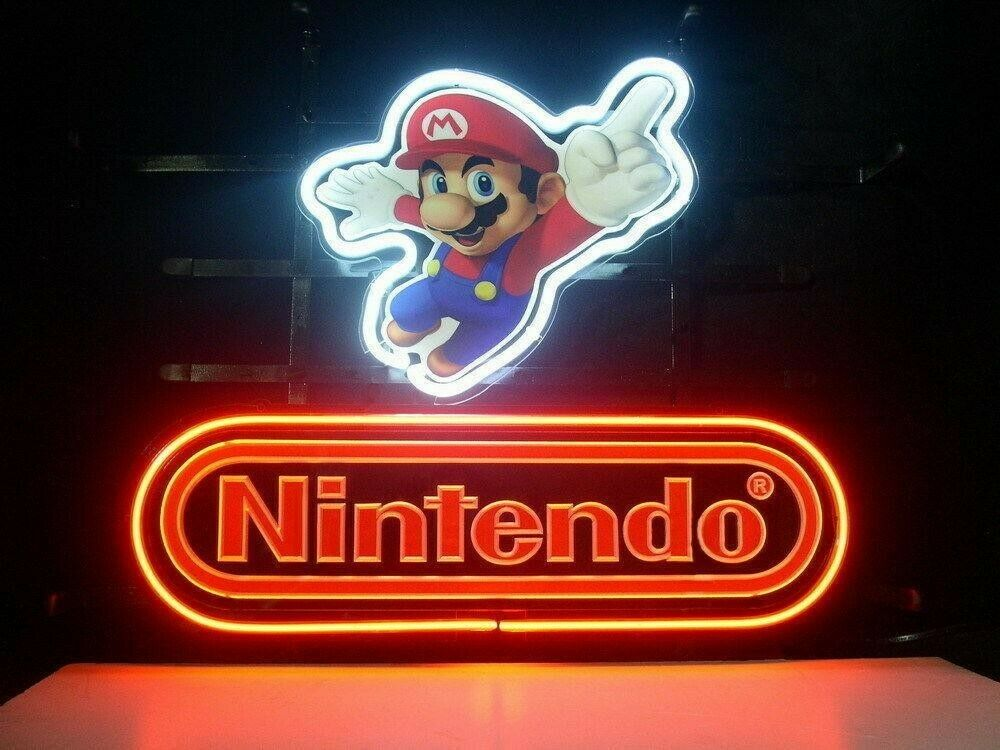 Super Mario Nintendo Neon Light Sign
