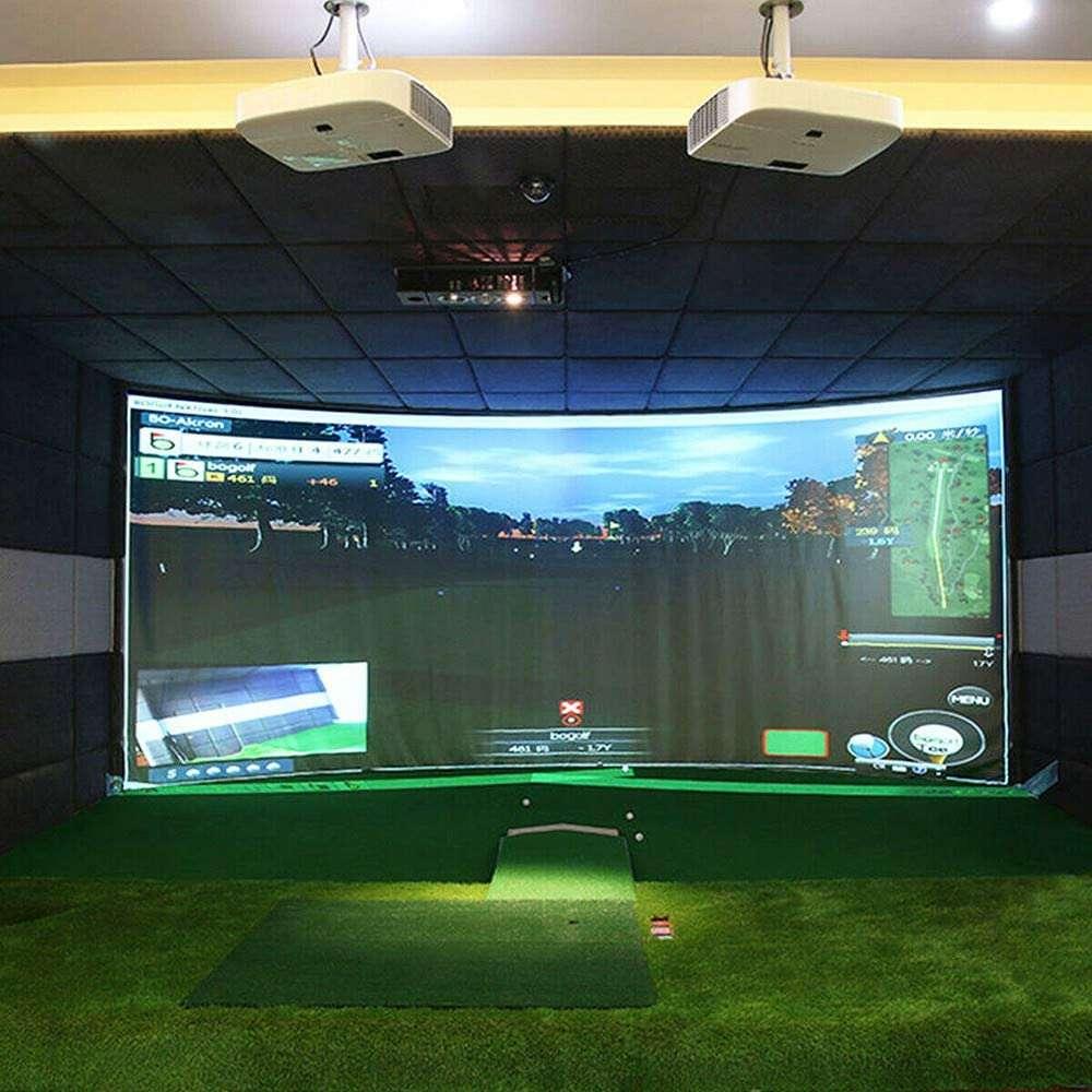 aikeec ball training golf simulator impact display projector screen indoor