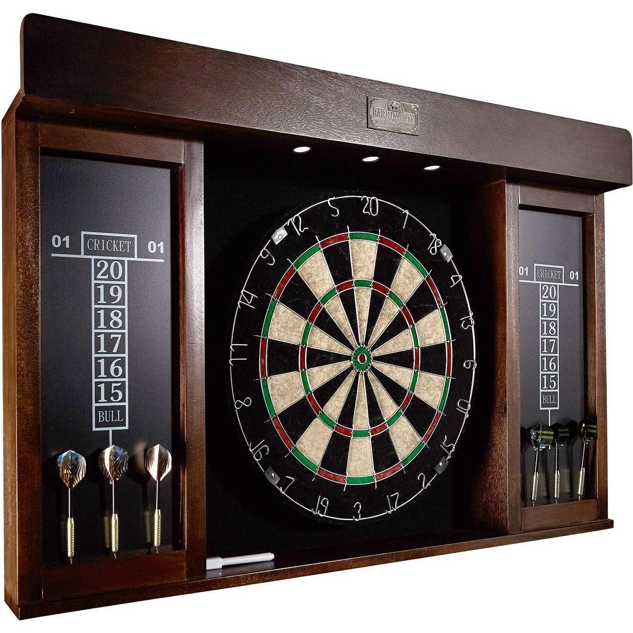 barrington 40 dartboard cabinet with led light