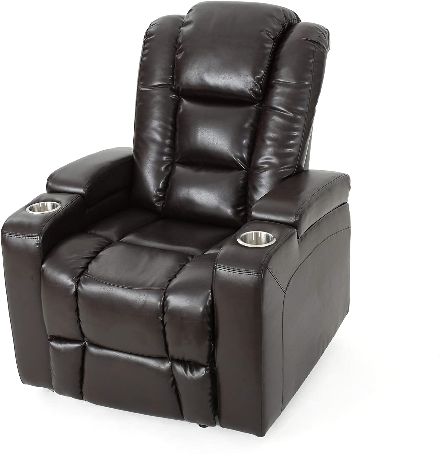 everette power motion recliner isolated on white background