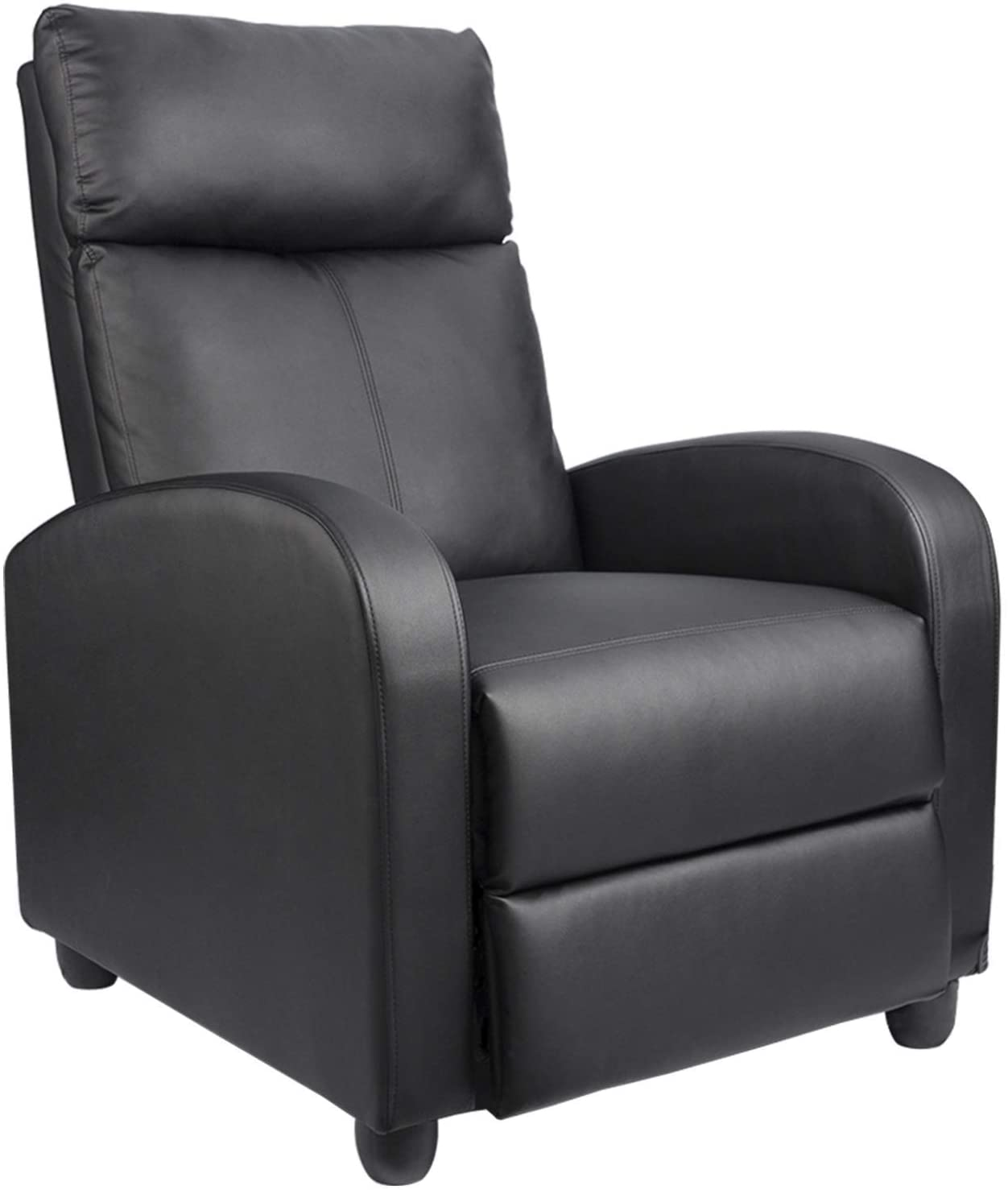 homall single recliner chair padded seat pu leather for living room
