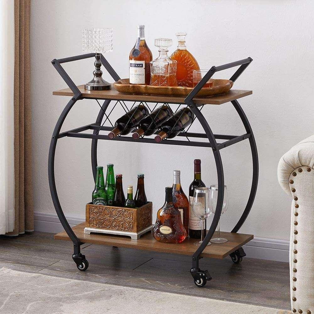 lvb bar cart with wine rack