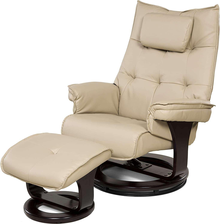 relaxzen 8 motor massage recliner with lumbar heat and ottoman